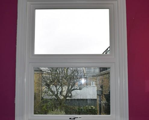 Timber casement window interior view