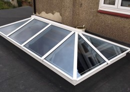 White skylight installation