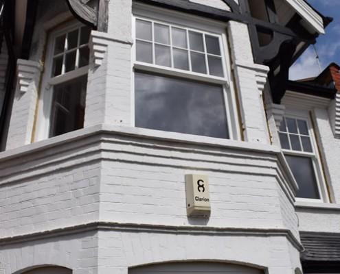 White sash timber windows