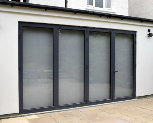 Exterior of origin four part bifolding doors