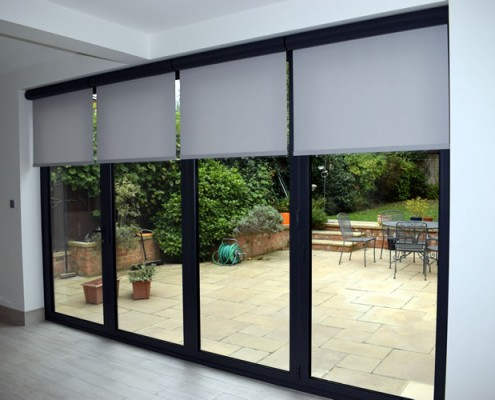 Origin bifolding door with internal blinds