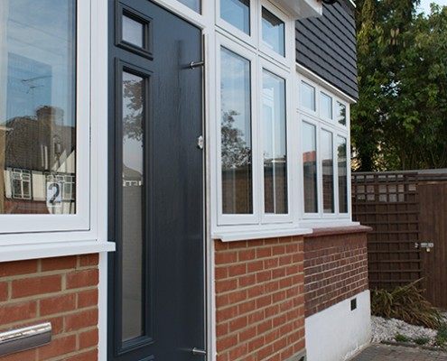 Grey Solidor composite door