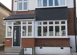 Flush casement windows and composite front door