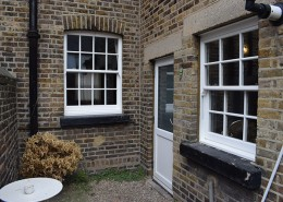 Replacement sash windows at rear