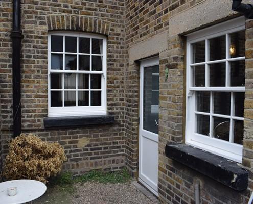 Replacement sash windows at rear
