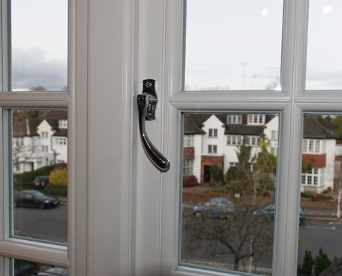 Casement timber window handle