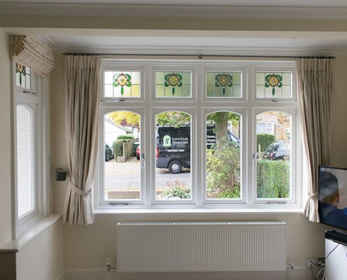 White casement window installation