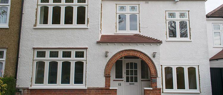 White timber casement window installation in Pinner
