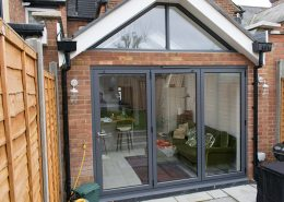 Bifold doors fitted in conservatory