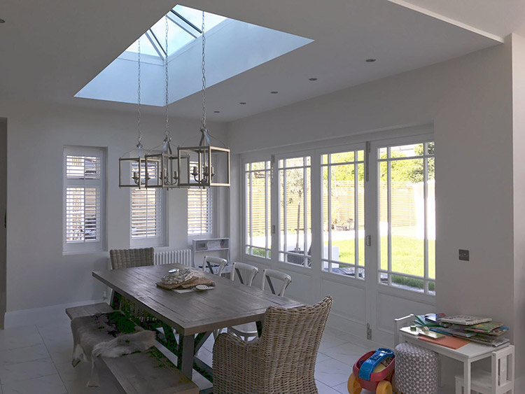 Timber bi fold french doors windows and skylight for Timber french doors