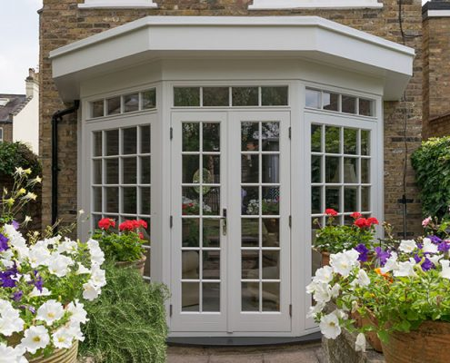 French timber doors in white