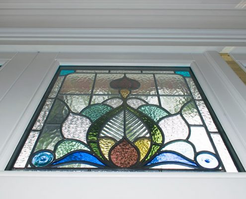 Stained glass panel in detail