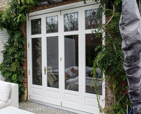 Timber bifold doors in Finchley
