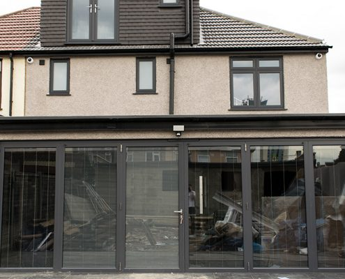 Aluminium bifold door installation in Edmonton