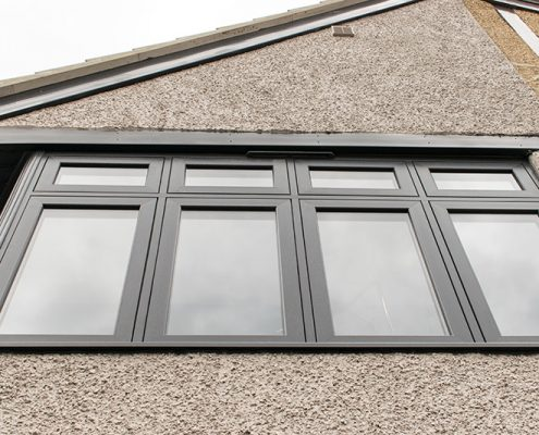 Grey uPVC double glazed windows