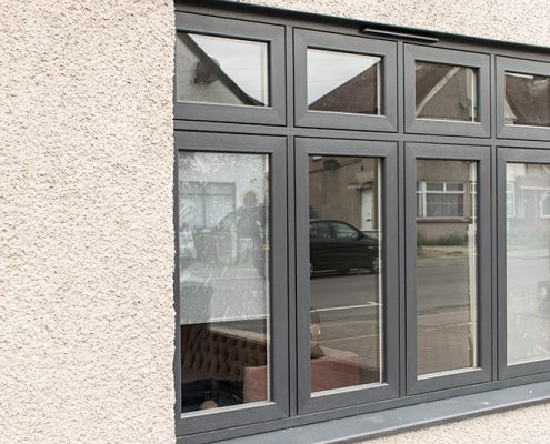 Flush uPVC casement double glazed windows