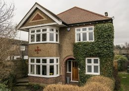 Timber bay window installation in north london