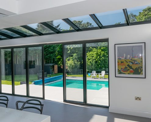 Atlas glass roof and bifold doors
