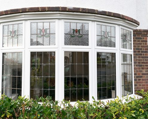 Double glazed stained windows