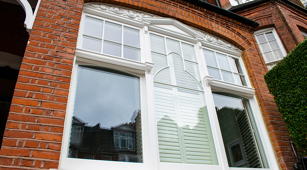 Sash timber windows in North London