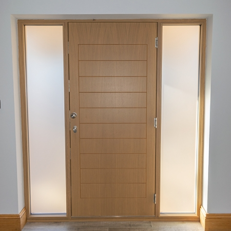 Oak timber door internal
