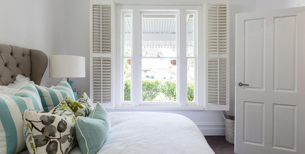 Window shutters installed