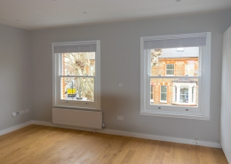 Interior view of timber sash windows