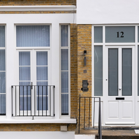 French doors and front door