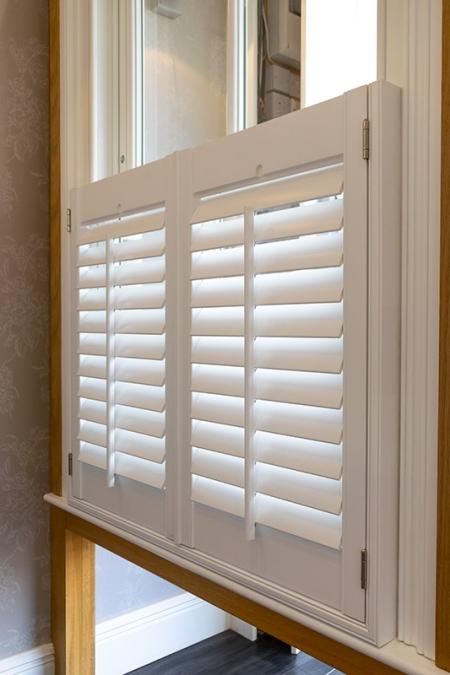 Cafe style window shutters
