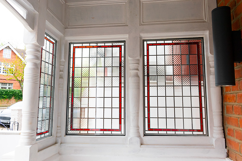 Stained glass timber windows