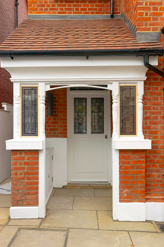 Timber windows and front door