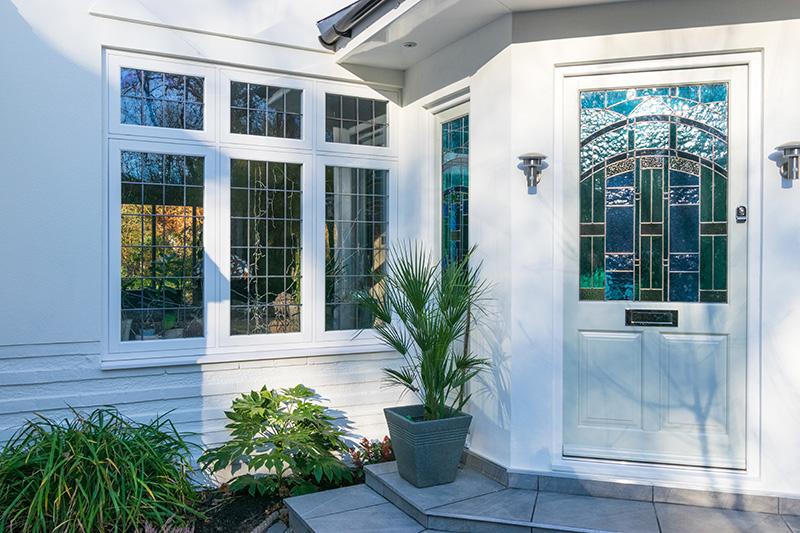 Front door with casement window