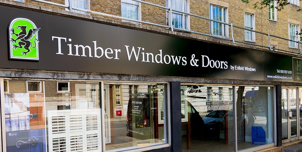 Kings Cross timber and door showroom