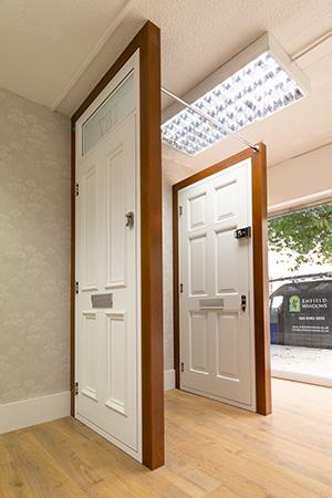 Timber doors with high security