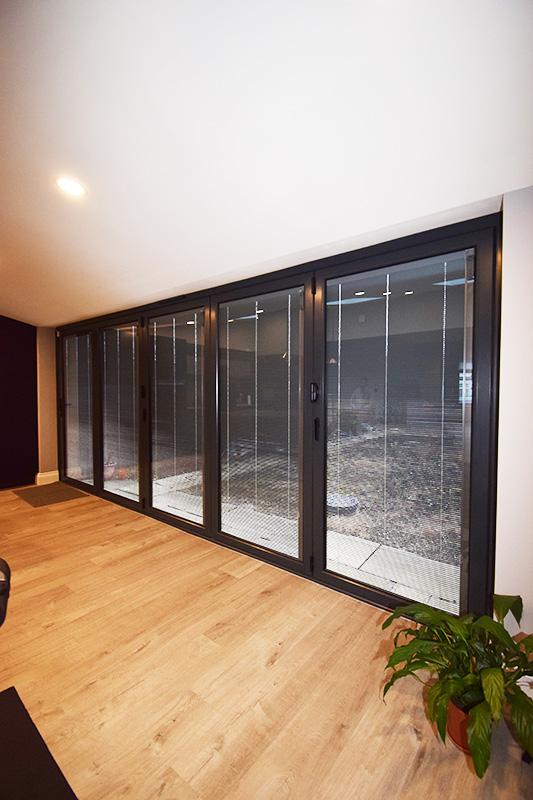 Internal view of bifold doors