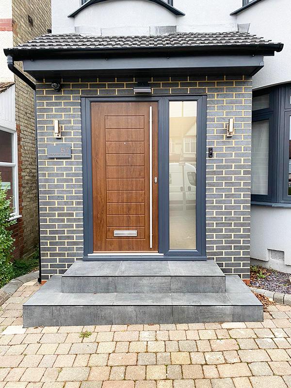 Composite front door installation